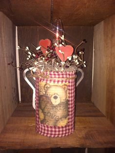 Valentine can. Perfect for your prim/country decor.