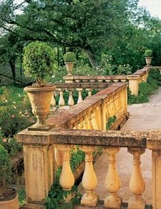 Terrace(s) with stone balusters.