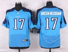 Light Blue Dorial Green-Beckham Elite Tennessee Titans #17 Home NFL Jersey