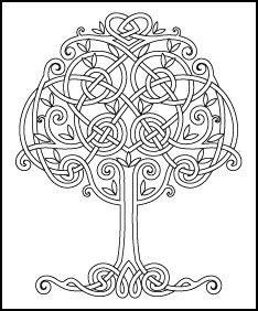 Trendy tree of life drawing pattern celtic knots ideas Celtic Quilt, Colouring Pages, Adult Coloring Pages, Coloring Books, Celtic Symbols, Celtic Art, Celtic Knots, Celtic Patterns, Celtic Designs
