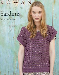 FREE crochet pattern from Rowan! Sardinia by Marie Wallin in Cotton Glacé.