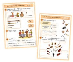 les instruments French Teacher, Teaching French, Cycle 2, French Classroom, Music School, Teacher Blogs, Music For Kids, Music Classroom, Teaching Music