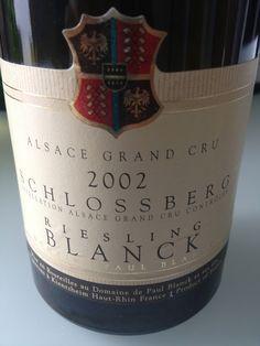 Grand Cru Schlossberg - Riesling - Domaine Paul Blanck - 2002
