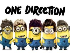 @Zayn Malik @Harry Styles @Niall Horan @Louis Tomlinson @Liam Payne  One Direction minions are the best! I can see Louis causing the most chaos, Harry becoming transfixed by something really simple, Niall running around laughing like crazy, no one knowing where Zayn is and Liam watching all the insanity, not quite sure what to do. xxx :)