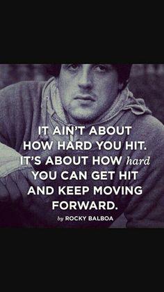 Rocky balboa boxing art motivational movie quotes, motivational quotes for working out, Rocky Balboa Movie, Rocky Balboa Quotes, Rocky Quotes, Great Quotes, Quotes To Live By, Me Quotes, Strong Quotes, Citations De Rocky Balboa, Citations Formation