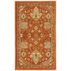 Home Decorators Collection Grayson Red 5 ft. 3 in. x 7 ft. 6 in. Area Rug - 450480 - The Home Depot