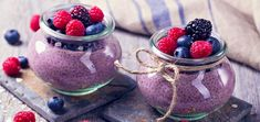 Fill up on the ultimate flavor duo of lemon and blueberry with this fiber-rich chia pudding. How can you not love the color?! Chia Pudding, Blackberry Pudding Recipes, Organic Recipes, Raw Food Recipes, Healthy Desserts, Keto Recipes, Superfood, Nutritional Yeast Recipes, Chia Recipe
