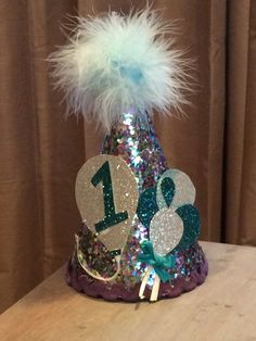 Blue Hot Air Balloon Birthday Hat Special by babyyourbabyboutique