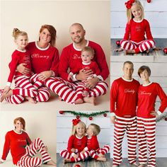 c6773cda07 USA Christmas Family Matching Deer Pajamas Adult Women Kids Baby Sleepwear  Set
