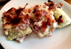 Maultaschen-Gratin - Kochfantasien Kochrezepte Blog Tacos, Meat, Chicken, Ethnic Recipes, Blog, Gratin, Stay At Home Mom, Oven, Chef Recipes