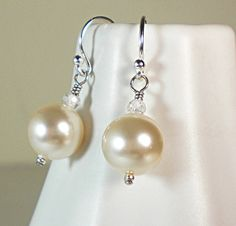 Swarovski Pearl sterling silver drop earrings, – Sara Nolte Designs