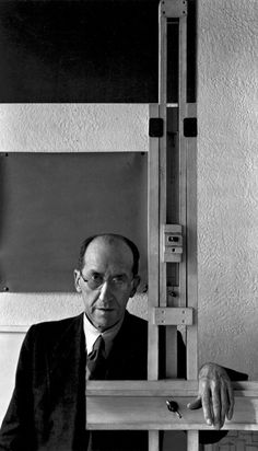 Piet Mondrian (1872-1944). Pioneer of geometric abstract. Member of the Stijlgroup. Called his approach Neoplasticism. (photo: Arnold Newman)