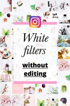 White theme ideas and white Instagram filters. See how to edit a white theme without editing. Only apply one filter to make a minimalist, bright white theme.