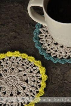 코바늘 도안 : 노란색 혹은 다른 컬러로 포인트 주면 큐트한 티코스터 패턴 : 네이버 블로그