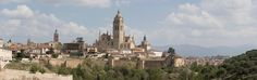 Segovia. - Segovia with the cathedral dominating the city.