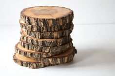 Set of 10 - Large Wood Slices - Wedding Cake Stand - Centerpiece - Outdoor Wedding - Rustic Decor on Etsy, $102.50