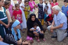 The author speaking with Yazidi women refugees from Sinjar, Iraq, in a refugee camp near Diyarbakir, Turkey in July, 2015.