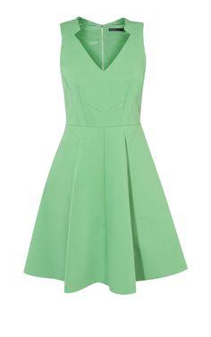 Karen Millen, GREEN COTTON DRESS Green
