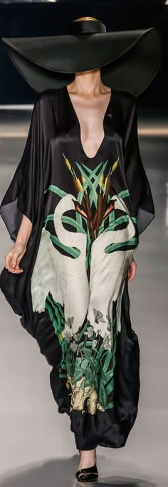 Adriana Degreas. So, this is clearly NOT an ID solo dress but the image of swans is lovely. I also like the color choices and the swans surrounded by water plants. This would be striking if it was reinterpreted by an ID designer.