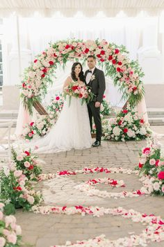 Summer wedding ceremony arch decorations - Peony Park Photography | One Thousand Roses for the most Romantic Summer Wedding Colors | Fairytale Wedding Inspo with Every Shade of Pink - Belle The Magazine Wedding Ceremony Arch, Wedding Ceremony Decorations, Summer Wedding Colors, Summer Weddings, Fairytale Bridal, Bride And Groom Pictures, Bridal Salon, Romantic Weddings, Floral Wedding