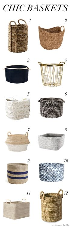 Hi everyone, Arianna of Arianna Belle here to share with you my roundup of an organizing must-have, baskets! Like the trays I featured in my last post, baskets are another one of those products tha...