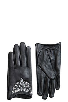Jewelled Leather Glove