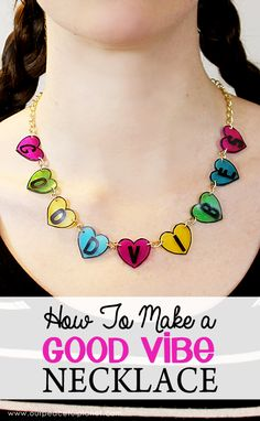 Here's a fun piece of statement jewelry you can make for very little! This chunky good vibes necklace is sure to turn heads. What a great gift too!