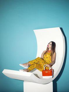 Stachel Handbag in PVC by Chiara Bellini