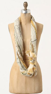 Want! European Map Scarf!