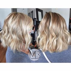 Stretched root color design, blonde balayage love!