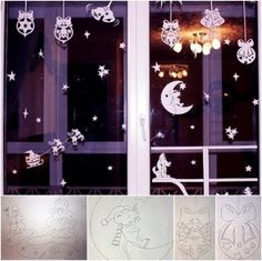 paper cutting for Christmas window decor