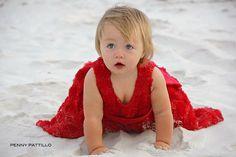 Beach Baby Christmas Dress