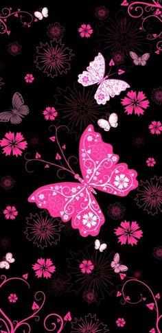 Blue Butterfly Wallpaper, Glitter Wallpaper, Iphone Background Wallpaper, Purple Wallpaper, Pink Butterfly, Cellphone Wallpaper, Flower Wallpaper, Butterflies, Beauty Iphone Wallpaper