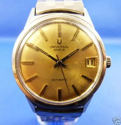 UNIVERSAL GENEVE AUTOMATIC HERREN ARMBANDUHR SWISS EDELSTAHL #luxurywatch #Universal-Geneve Universal Geneve Swiss Watchmakers watches #horlogerie @calibrelondon