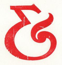 letterpress ampersand