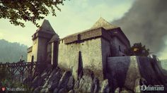 Warhorse Studios is raising funds for Kingdom Come: Deliverance on Kickstarter! Realistic single-player RPG set in the medieval Europe. Open-world sandbox with period accurate melee combat. Kingdom Come Deliverance, Fantasy Castle, Medieval Fantasy, Fantasy Places, Fantasy World, Minecraft Welten, Witches Castle, Castle Project, Medieval Drawings