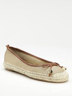 Love this style - cute mix on boat shoe and espadrille