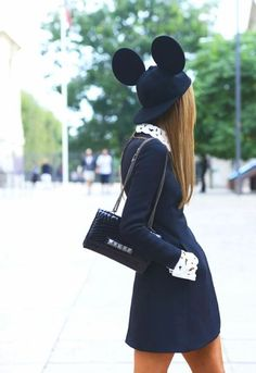 Valentino bag & mouse hat