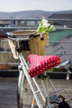 Grünkehlchens Nest: Fahrradsattelbezug - kostenlose Nähanleitung