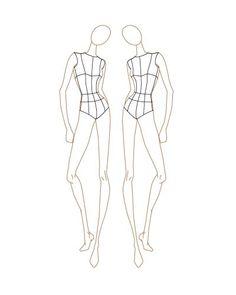 Female Fashion Figure Croqui 031
