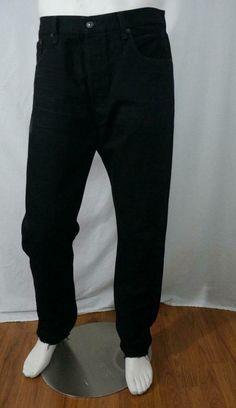 Levi's 501 CT Customized and Tapared Frayed Hem Jeans Black Cotton 36 X 32 Frayed Hem Jeans, Jeans Fit, Detachable Collar Shirt, Denim Shirt Dress, Work Shirts, Collar Shirts, Levis, Black Denim, Men's Clothing