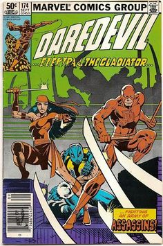 BRONZE AGE 1981 DAREDEVIL #174 MARVEL COMIC ELEKTRA APPEARANCE!!