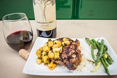 In Camden, Chef Fiona cooked up her savory Brown Sugar and Five Spice Rubbed Pork Chops with Roasted Pineapple and Green Onions for Dave Matthews Band and crew. At home, we recommend pairing this recipe with the Dreaming Tree Crush. Photo by Rodrigo Simas.
