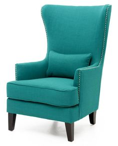 Cost Plus World Market Pacific Blue Elliott Wingback Chair | Pinterest |  Pacific Blue, Wingback Chairs And Living Rooms