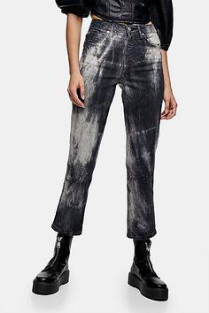 Black Tie Dye Straight Jeans