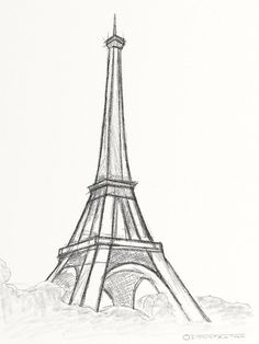 eiffel tower drawing and sketches (16)