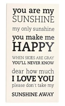 This You Are My Sunshine Wall Art features the words from the classic song.  #quotes
