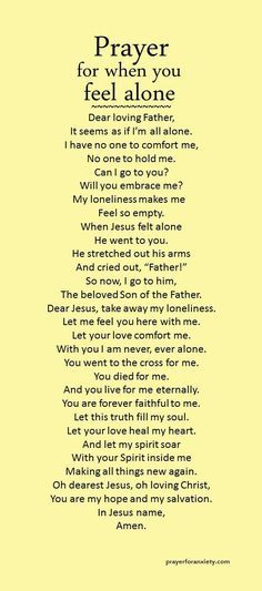 Prayer for when you feel alone