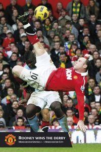 MANCHESTER UNITED rooney goal - Football Poster 61x91.5cm