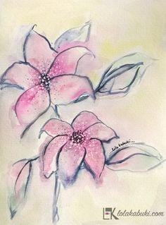 FLORES DISUELTAS 1 #flores, #acuarela, #arte